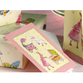 Carte décor bébé rose