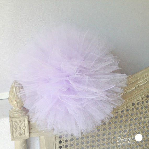 Pompom tulle Lilas