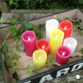 Bougies LED color - Lot de 4