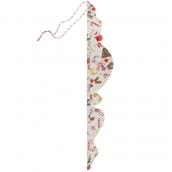 Grande pampille papier décor noël vintage