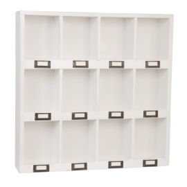 Etagère casier vintage white