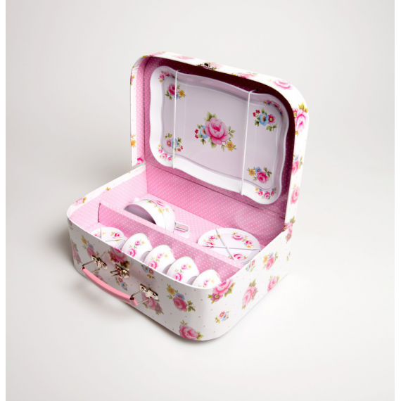 Dinette valisette tea party pink
