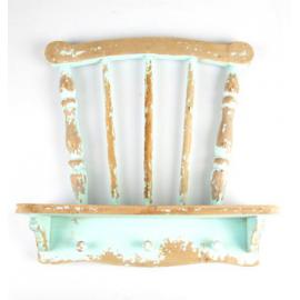 Etagère chaise vintage blue