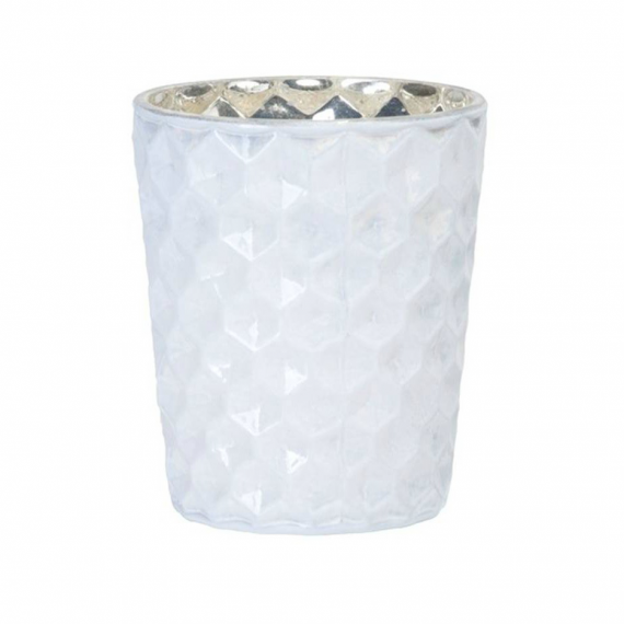 decoration de table photophore verre shinny white. Black Bedroom Furniture Sets. Home Design Ideas