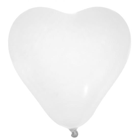 Ballons coeur blanc