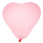 Ballons coeur rose tendre - Lot de 8