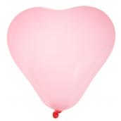 Ballons coeur rose tendre