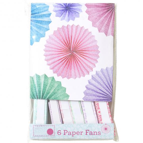 Eventails papier joli print color