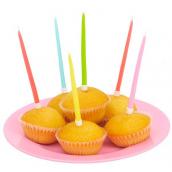 Bougies anniversaires acidulées - Lot de 20