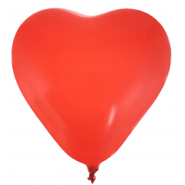 Ballons coeur rouge - Lot de 8