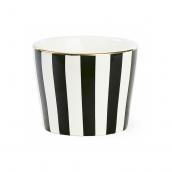 Pot porcelaine rayures noires filet