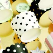 Caissettes cupcake pois noirs
