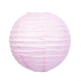 Lanterne papier rose unie