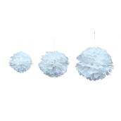 Pompoms bleu ciel
