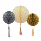 Boules papier pompoms mix so chic
