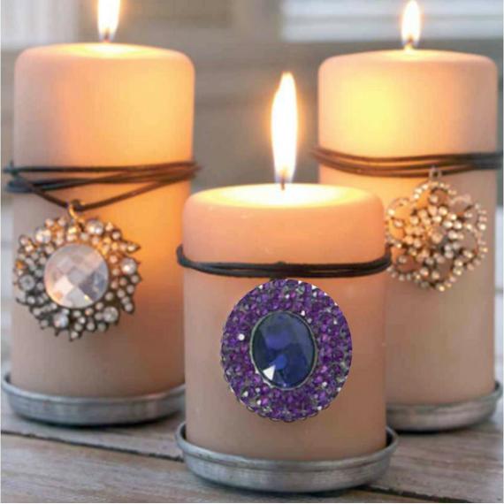 Médaillon pampille chic purple
