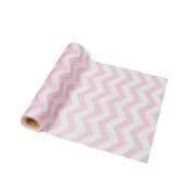Chemin de table chevrons rose