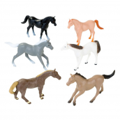 Figurines chevaux - Lot de 12