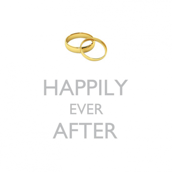 Serviettes cocktail Happily ever after