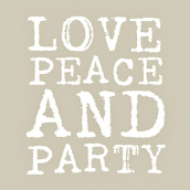Serviettes papier love, peace & party taupe