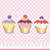Serviettes papier sweet cupcakes - Lot de 20