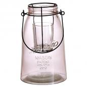 Photophore lanterne trapèze Mason rose