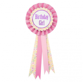 Badge rosette birthday liberty