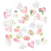 Confettis romantiques jolis coeurs