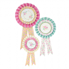Badges rosettes fancy liberty - Lot de 3