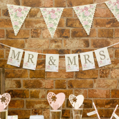 Guirlande love shabby Mr & Mrs