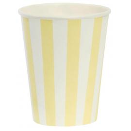 Gobelets rayures jaunes