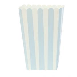 Etui popcorn rayures bleues - Lot de 6