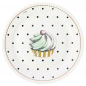 Assiettes cupcake et pois