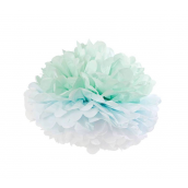 Pompom papier dégradé vert bleu