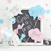 Set photobooth pastel dots