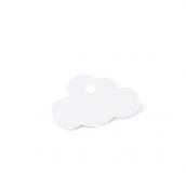 Etiquettes nuage blanc - Lot de 24