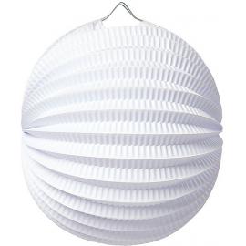 Lampion accordéon rond blanc