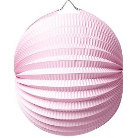 Lampion accordéon rond rose