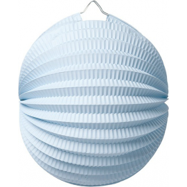 Lampion accordéon rond bleu