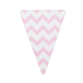 Fanions chevrons roses - Lot de 5