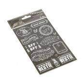 Stickers décoratifs ardoises vintage - Lot de 38