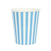 Gobelets rayures bleues lot de 10