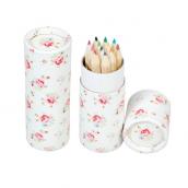 Set mini crayons couleurs petites roses - Lot de 12