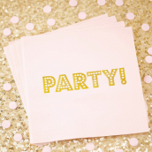 Serviettes papier party rose so chic - Lot de 20