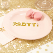 Assiettes party rose so chic