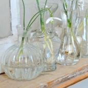 Petit vase verre potiron