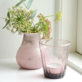 Vase corolle rose opal