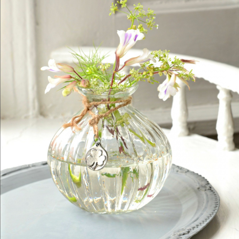 Decoration mariage vintage vase verre potiron - Modele de decoration de vase en verre ...