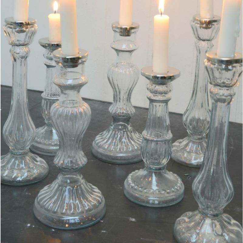 decoration mariage vintage bougeoir verre hector. Black Bedroom Furniture Sets. Home Design Ideas