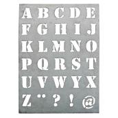 Grand pochoir zinc lettres